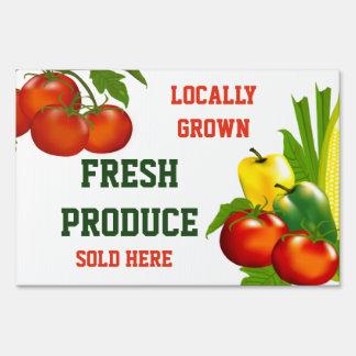Fresh Produce Farm Stand Lg Yard Sign