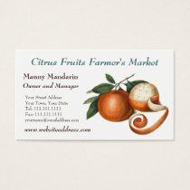 Fresh Produce Farmers Market Vintage Style Business Card