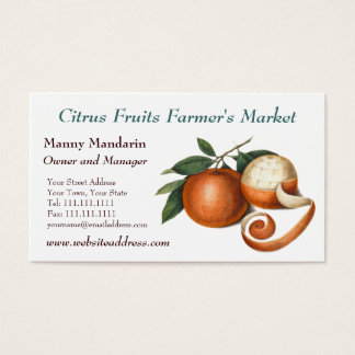 Fresh Produce Farmers Market Vintage Style Business Card