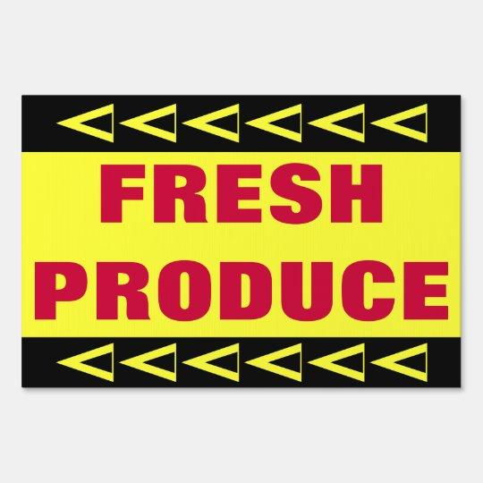 Fresh Produce Lawn Sign