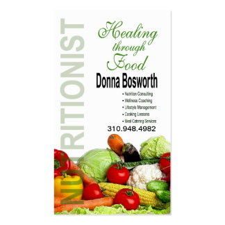 Fresh Produce Nutritionist Food Coach, Weight Loss Business Card