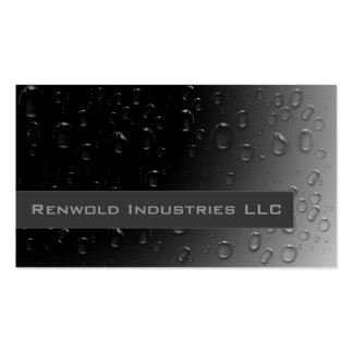 Fresh Rain on Black Double-Sided Standard Business Cards (Pack Of 100)