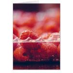 Fresh Raspberries Photography Art Card