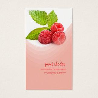 Fresh raspberry business card