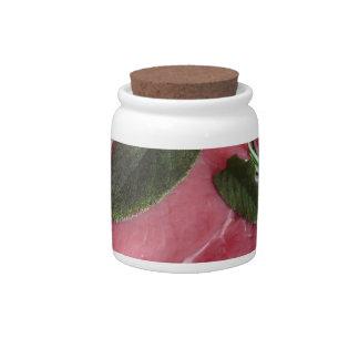 Fresh raw marbled meat steak candy jar