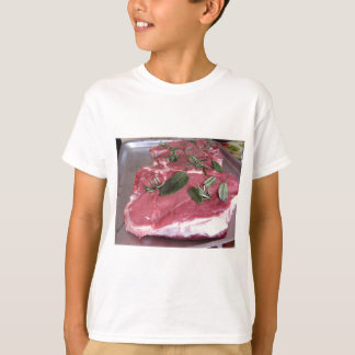 Fresh raw marbled meat steak T-Shirt