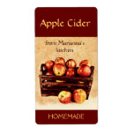 Fresh red apples in a basket apple cider personalized shipping labels