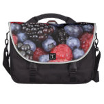Fresh Red Blue and Purple Berries Bags For Laptop