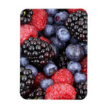 Fresh Red Blue and Purple Berries Flexible Magnets