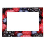 Fresh Red Blue and Purple Berries Magnetic Picture Frames