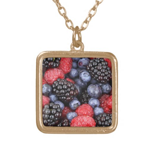 Fresh Red Blue and Purple Berries Necklaces