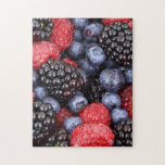 Fresh Red Blue and Purple Berries Puzzle
