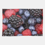 Fresh Red Blue and Purple Berries Towels