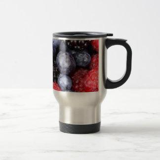 Fresh Red Blue and Purple Berries Travel Mug