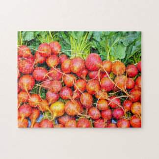 Fresh red garden beets puzzle