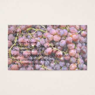Fresh red globe grapes business card