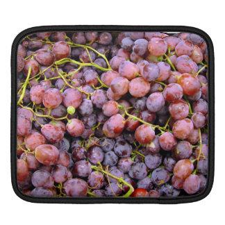Fresh red globe grapes iPad sleeves