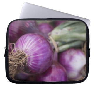 Fresh red onions at a New Jersey farmer's Computer Sleeves