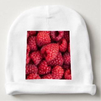 Fresh red raspberries baby beanie