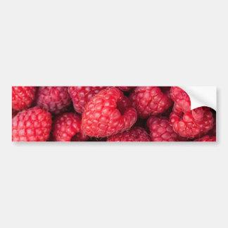 Fresh red raspberries car bumper sticker
