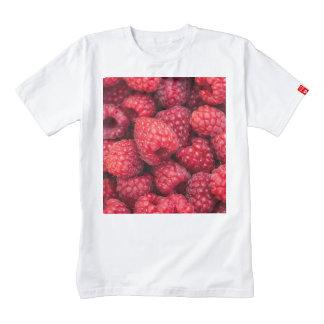 Fresh red raspberries zazzle HEART T-Shirt