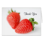 Fresh Red Strawberries Stationery Note Card