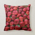 Fresh Red Strawberries Throw Pillow