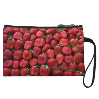 Fresh Red Strawberries Wristlet