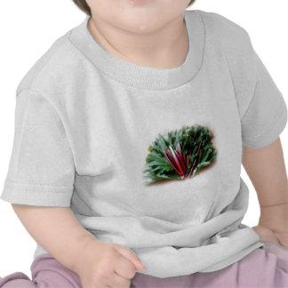 Fresh Rhubarb Stalks and Leaves Tshirts