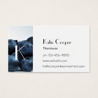 Fresh Ripe Blueberries Business Card