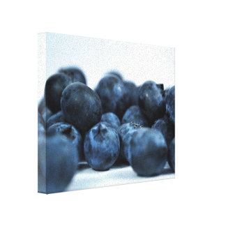 Fresh Ripe Blueberries Canvas Print
