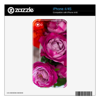 fresh roses iPhone 4 decal