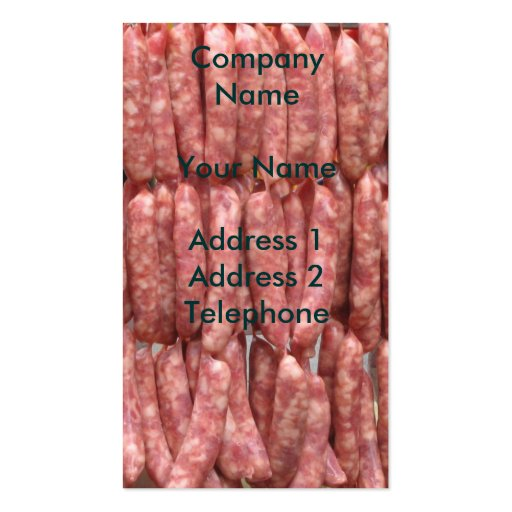 Fresh Sausages Business Card Template