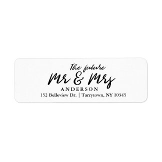 Fresh Script The Future Mr and Mrs Label