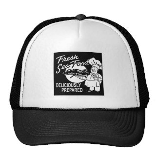 Fresh Seafood Deliciously Prepared Trucker Hat