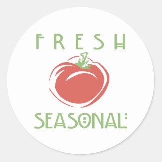 Fresh Seasonal Classic Round Sticker