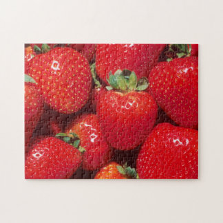 Fresh Shiny Red Strawberries Jigsaw Puzzle