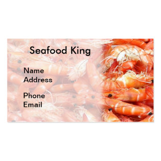 Fresh Shrimps or Prawn on Display Double-Sided Standard Business Cards (Pack Of 100)