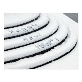 Fresh Snow Happy New Year Postcard