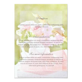 Fresh Spring Flower Bouquet Wedding Card