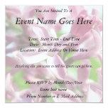 "Fresh Spring Lilacs 5.25"" Square Invitation Card"