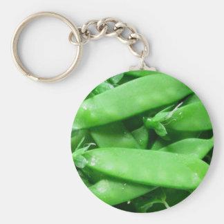 Fresh Spring Peas Basic Round Button Keychain