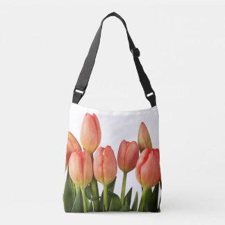 fresh spring pink tulips tote bag