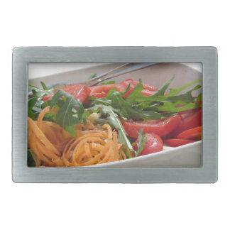 Fresh spring salad rectangular belt buckle
