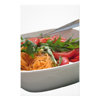 Fresh spring salad stationery