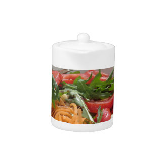 Fresh spring salad teapot