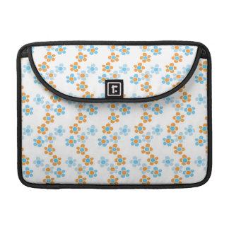 Fresh Springtime Blue Floral Cascade Pattern Sleeve For MacBook Pro