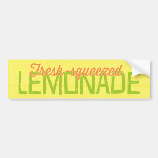 Fresh Squeezed Lemonade Bumper Sticker