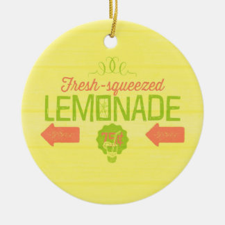 Fresh Squeezed Lemonade Double-Sided Ceramic Round Christmas Ornament