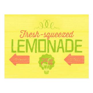 Fresh Squeezed Lemonade Postcard